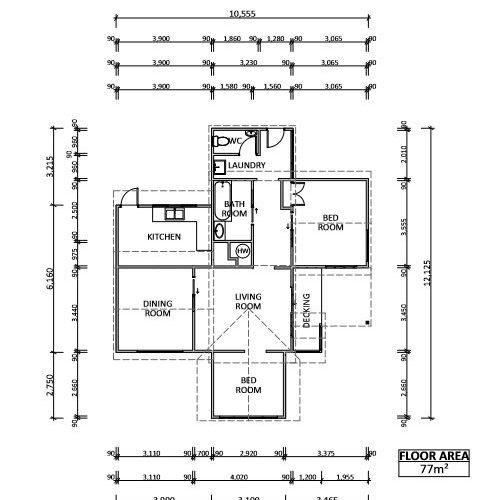 Port Whangarei Cute 3 Bdrm Relocatable Home For Sale - Floor Plans